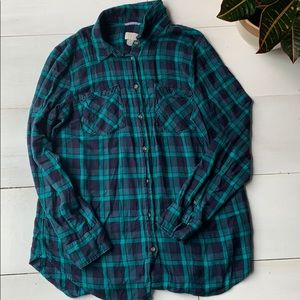 A new day plaid top